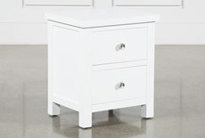 "Larkin White 23"" Nightstand"