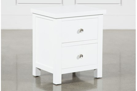 Larkin White Nightstand - Main
