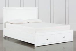 Larkin White Queen Panel Bed With Storage