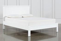 Larkin White Eastern King Panel Bed