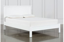 Larkin White Eastern King Panel Bed