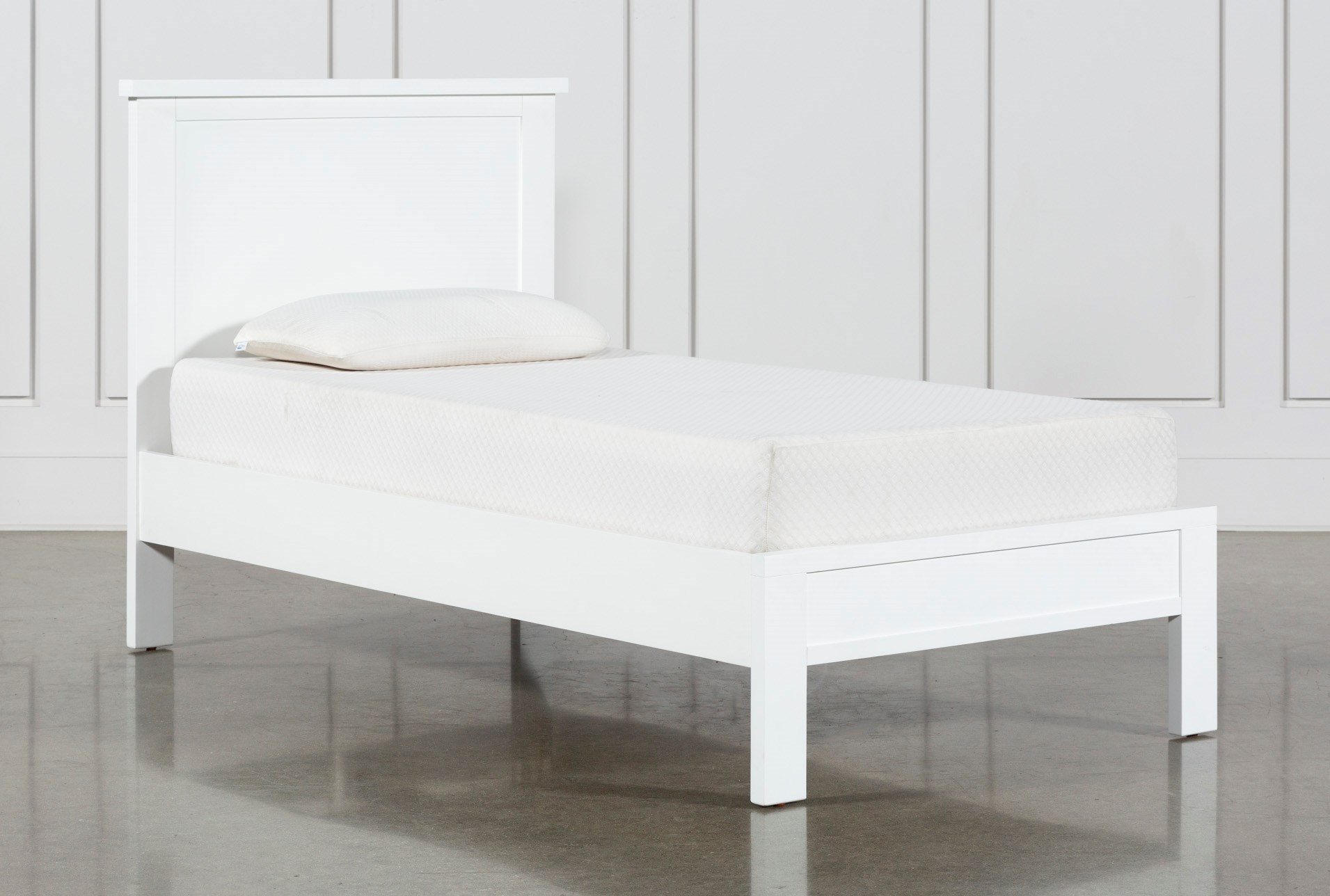 Larkin White Twin Panel Bed Living Es
