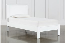 Larkin White Twin Panel Bed
