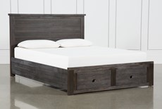 Larkin Espresso California King Panel Bed With Storage