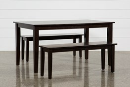 Lindy Espresso 3 Piece Rectangle Dining Set