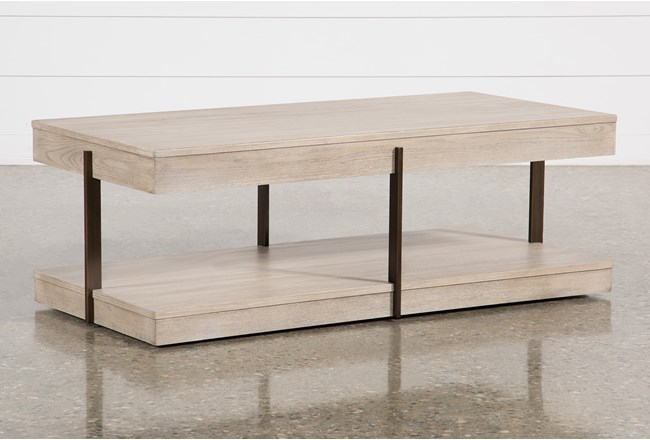 Pierce Natural Coffee Table - 360