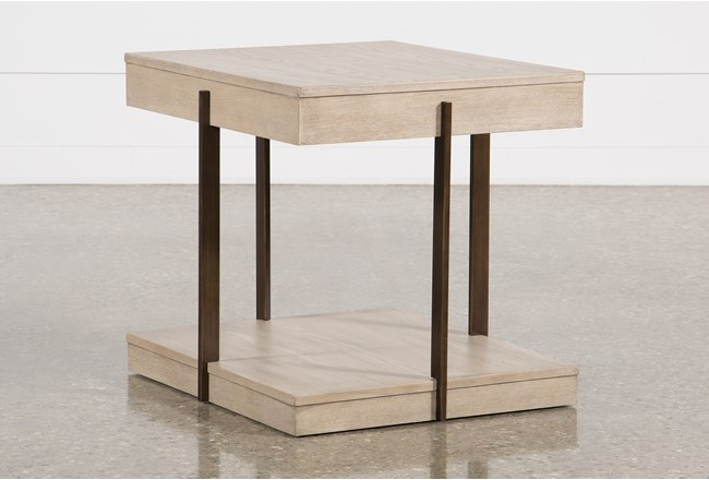 Pierce Natural End Table - 360