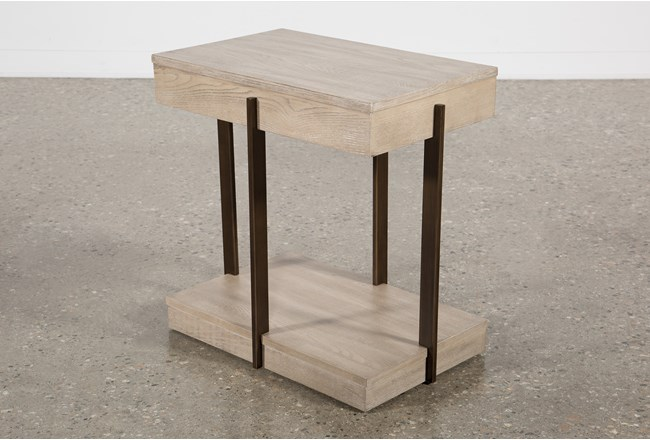 Pierce Natural Chairside Table - 360