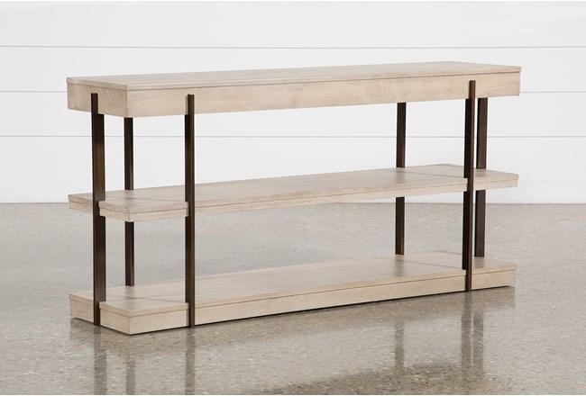 Pierce Natural Sofa Table - 360
