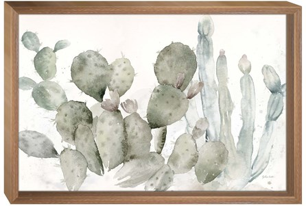 Picture-Cactus On Wood Box 36x24