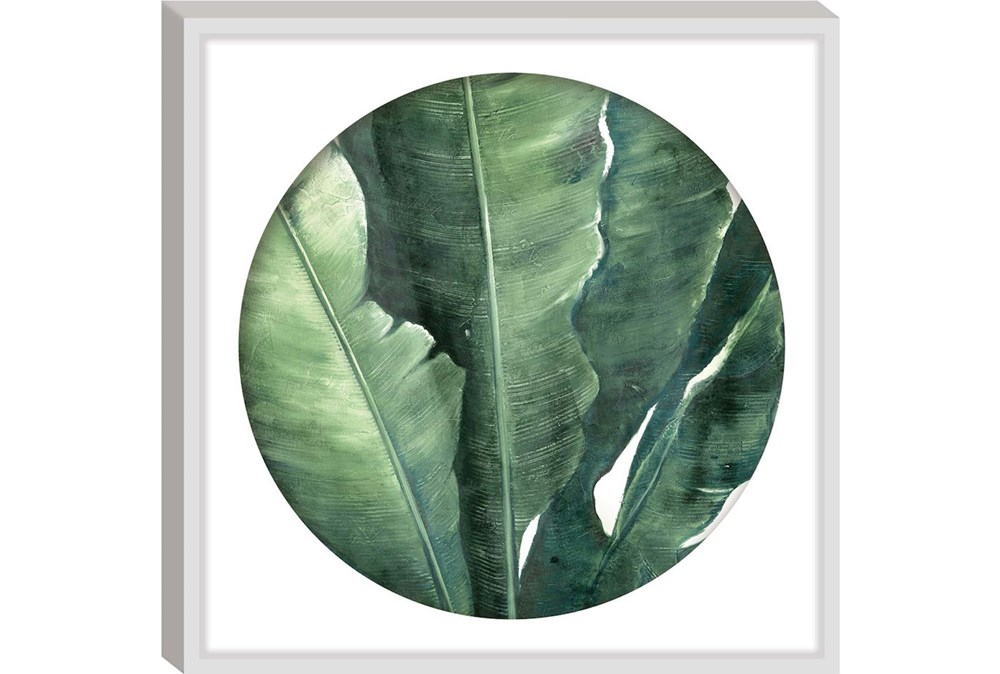 Picture-Round Framed Palm 26X26