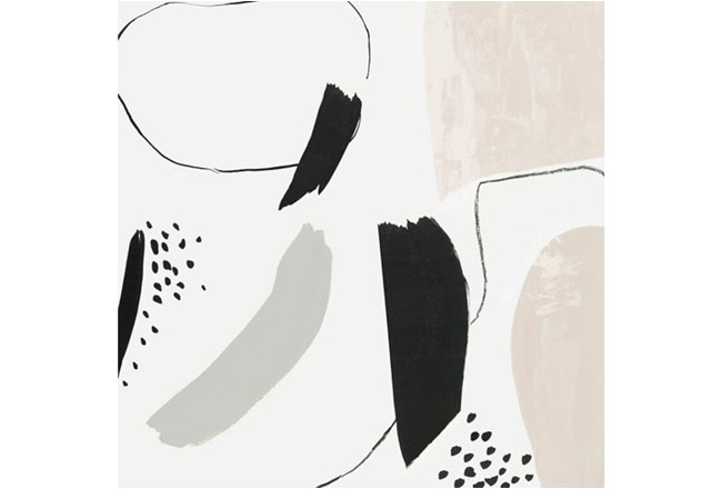 Picture-Taupe & Black Abstract Embellished Canvas 36X36 - 360