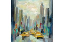Picture-Yellow Cabs Framed Canvas 36X36