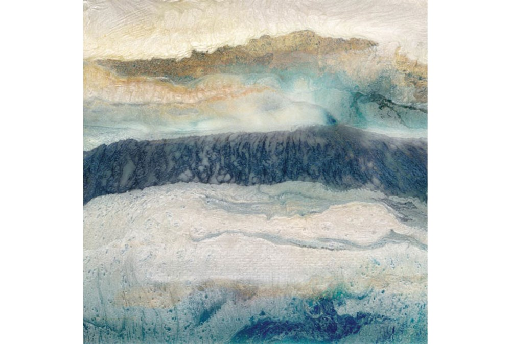 Picture-Indigo Mountain Embellished Canvas 35X35