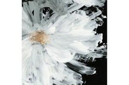 Picture-White Peony Embellished Canvas 48X48