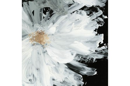 Picture-White Peony Embellished Canvas 48X48 - Main