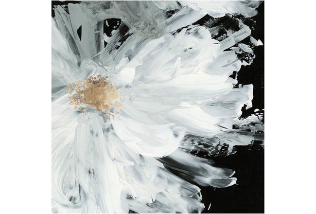Picture-White Peony Embellished Canvas 48X48 - 360