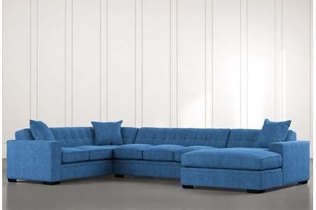 Costello II Blue 3 Piece Sectional