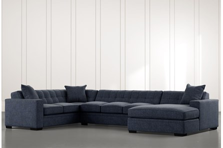 Costello II Navy Blue 3 Piece Sectional