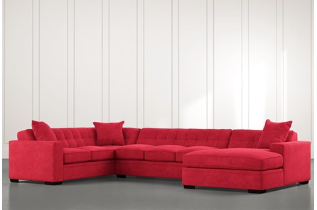 Costello II Red 3 Piece Sectional