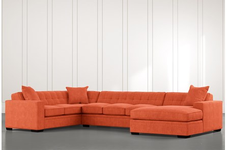 Costello II Orange 3 Piece Sectional