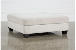 Harper II Birch Square Cocktail Ottoman