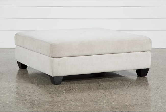 Harper II Birch Square Cocktail Ottoman - 360