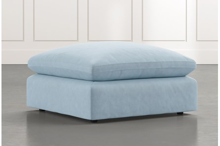 Utopia Light Blue Ottoman