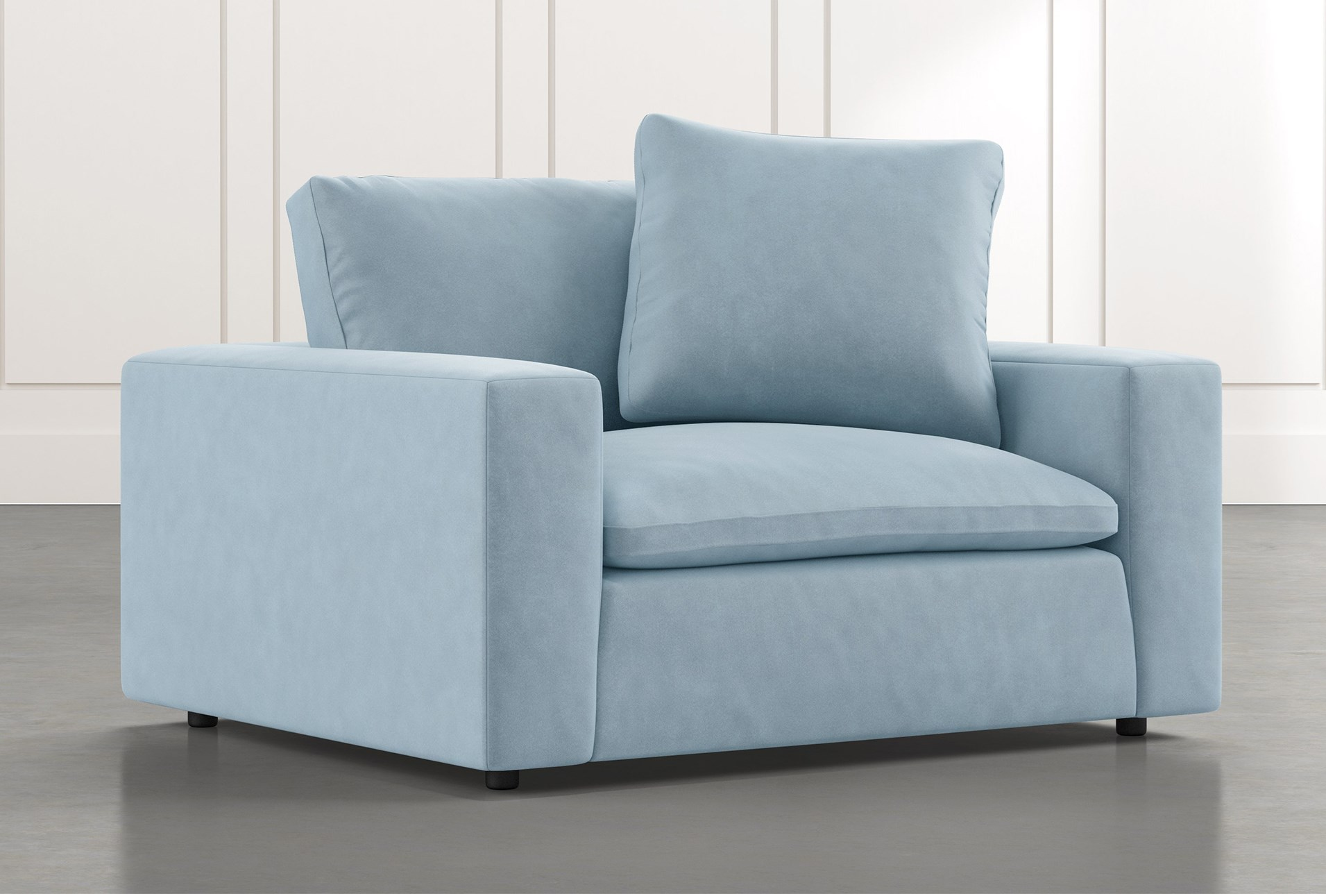 Utopia Light Blue Chair Living Spaces