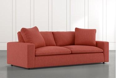 "Utopia 96"" Red Sofa"