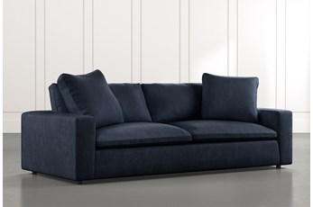 "Utopia 96"" Navy Blue Sofa"