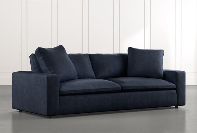 Utopia Navy Blue Sofa Living Spaces
