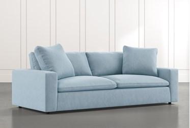 "Utopia 96"" Light Blue Sofa"
