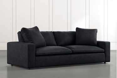 "Utopia 96"" Black Sofa"