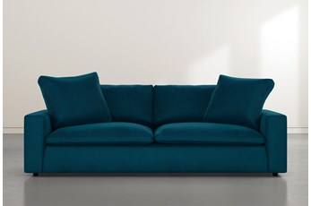 Utopia Teal Blue Velvet Sofa