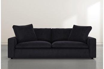 "Utopia 96"" Dark Grey Velvet Sofa"