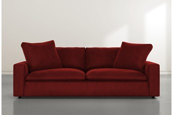Utopia Burgundy Velvet Sofa