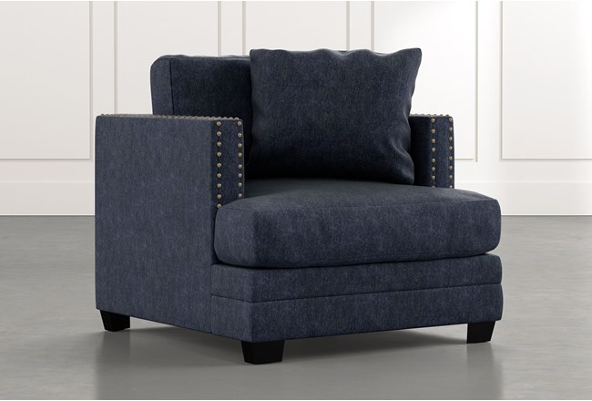 Kiara II Navy Blue Chair - 360