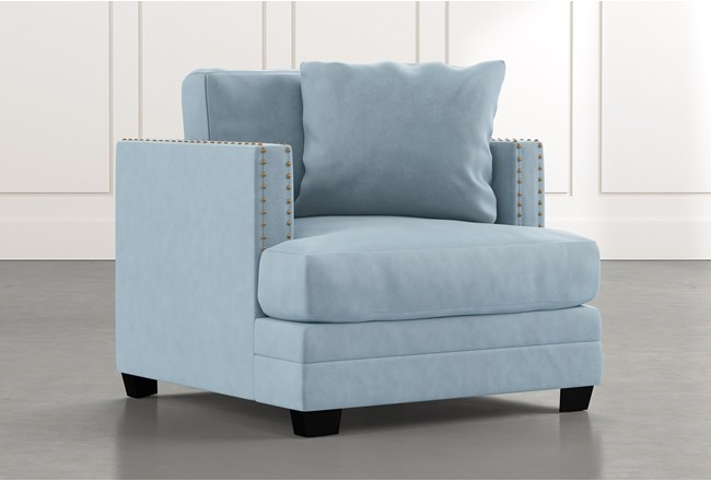 Kiara II Light Blue Chair - 360