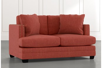 Kiara II Red Loveseat