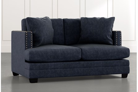 Kiara II Navy Blue Loveseat