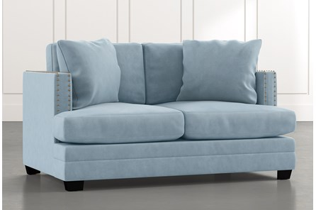 Kiara II Light Blue Loveseat