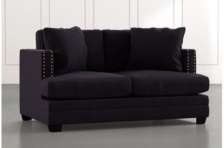 Kiara II Black Loveseat