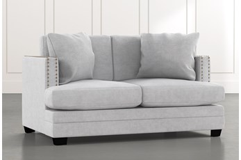 Kiara II Light Grey Loveseat