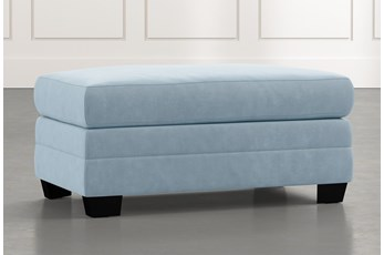 Kiara II Light Blue Ottoman