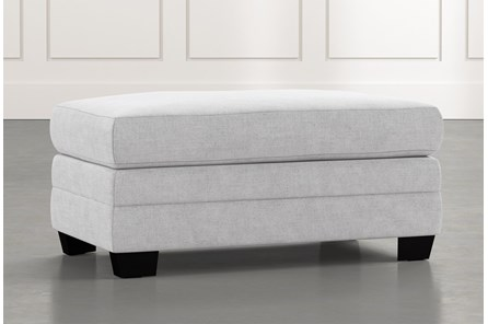Kiara II Light Grey Ottoman