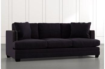"""Kiara II 90"""" Black Sofa"""