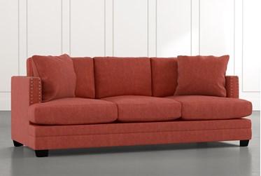 "Kiara II 90"" Red Sofa"