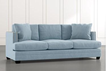 "Kiara II 90"" Light Blue Sofa"