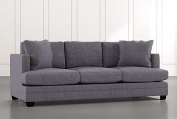 """Kiara II 90"""" Grey Sofa"""